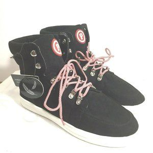 Pastry Shoes 9.5 Black High Tops Memory Foam